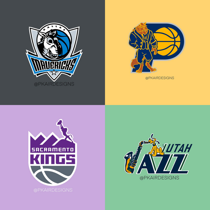 The NBA, but Make It Disney - Check Out These Reimagined Disney-Inspired NBA Logos