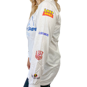 LB Movie Logo Long Sleeve Tee - White The Lost Bros