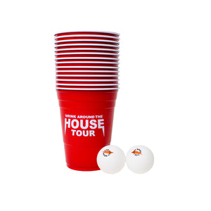 The Lost Bros Drink Around the House Tour Beer Pong Set