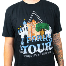Load image into Gallery viewer, The Lost Bro's 4 Parks Tour Tee