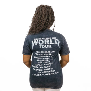 Drink Around the World Tour Tee - Mineral Wash