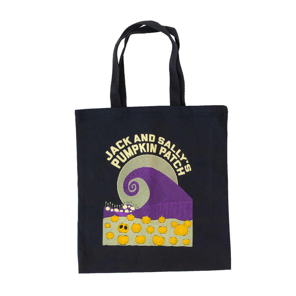 Jack and Sally's Pumpkin Patch Tote Bag The Lost Bros