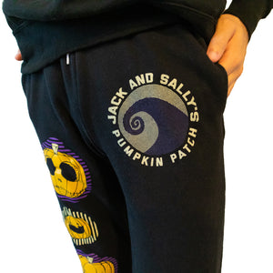 Jack and Sally's Pumpkin Patch Joggers The Lost Bros