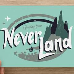 Greetings From Neverland Print
