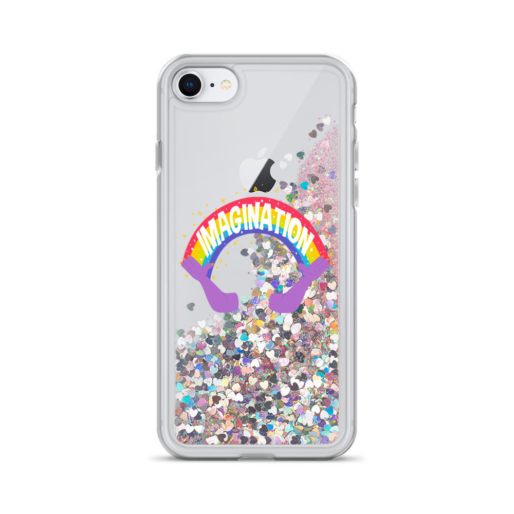 Imagination Meme Glitter Phone Case
