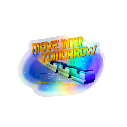 The Lost Bros Move Into Tomorrow Sticker