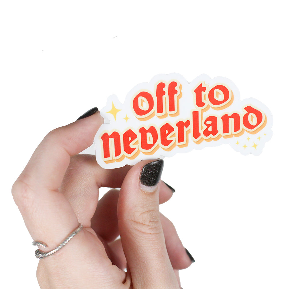 Off to Neverland Sticker The Lost Bros