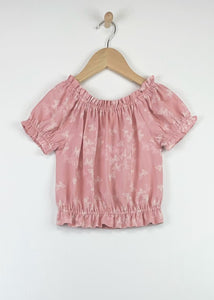 Bella's Butterfly Peasant Top