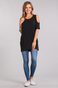 Cassandra Curvy Cold Shoulder Top