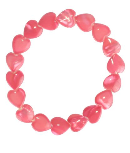 Del Sol Color Changing Heart Shell Bracelet- Pink or Blue