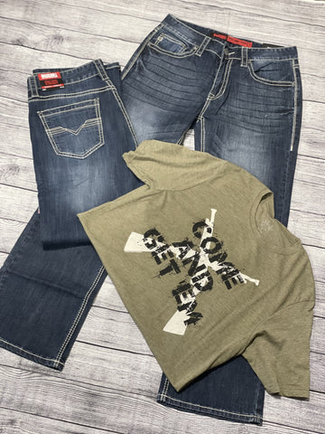 Men's Rock & Roll Denim- Double Barrel
