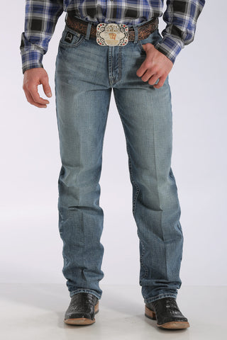 Cinch Men's Loose Fit Black Label 2.0 Jean- Medium Stonewash