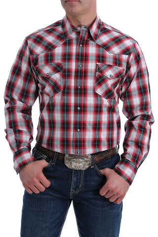 Cinch Modern Fit Red, Black & White Western Snap