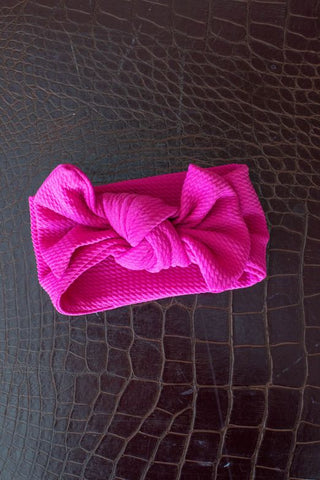 L&B Violet Big Bow Baby Headband