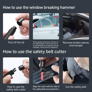 2 in 1 Safety Seat Belt Cutter & Window breaking Hammer