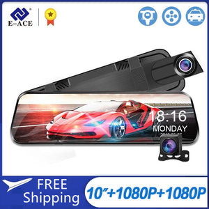 Streaming RearView Car Dvr Dash Cam with 1080P Video Recorder Dual Lens Rear View Camera