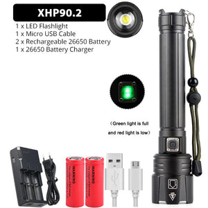 Ultra Powerful USB Rechargeable Zoom Camp Torch Flashlight XHP70