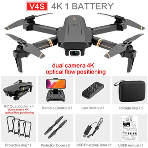 4K/1080P HD Wide Angle Camera Foldable Altitude Hold Durable  Drone