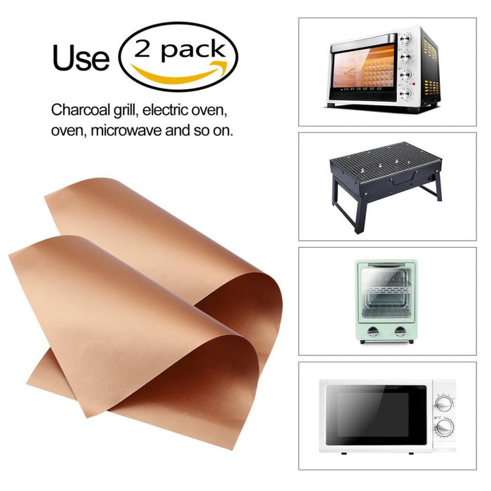 2 Pcs/Pack Kitchen Copper Grill Mats