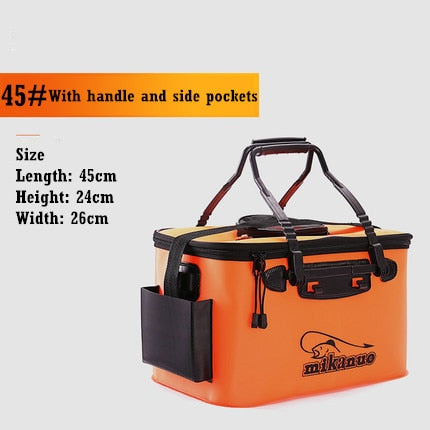 Foldable Waterproof Fishing Bucket-Live Fish Container