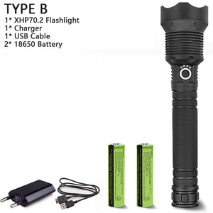 Super USB Rechargeable  powerful led flashlight