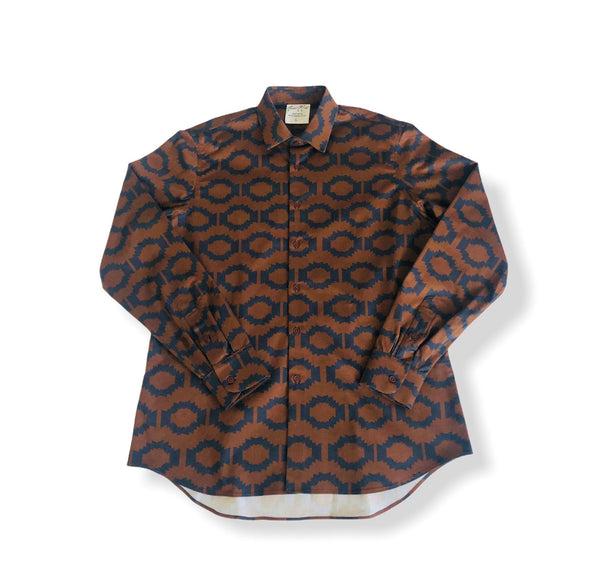 Men's Button-Up Shirt-MAM Aztec Trans.