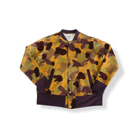 Men's Button Up Bomber Jacket - Abstract Camo