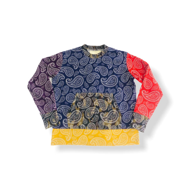 Crew Neck Sweater with Kangaroo Pocket - Multi BD