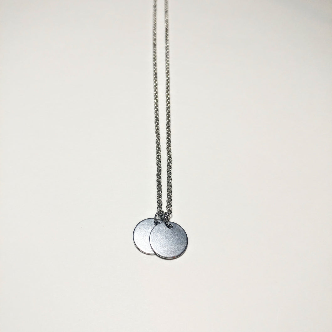 Disc x 2 Necklace