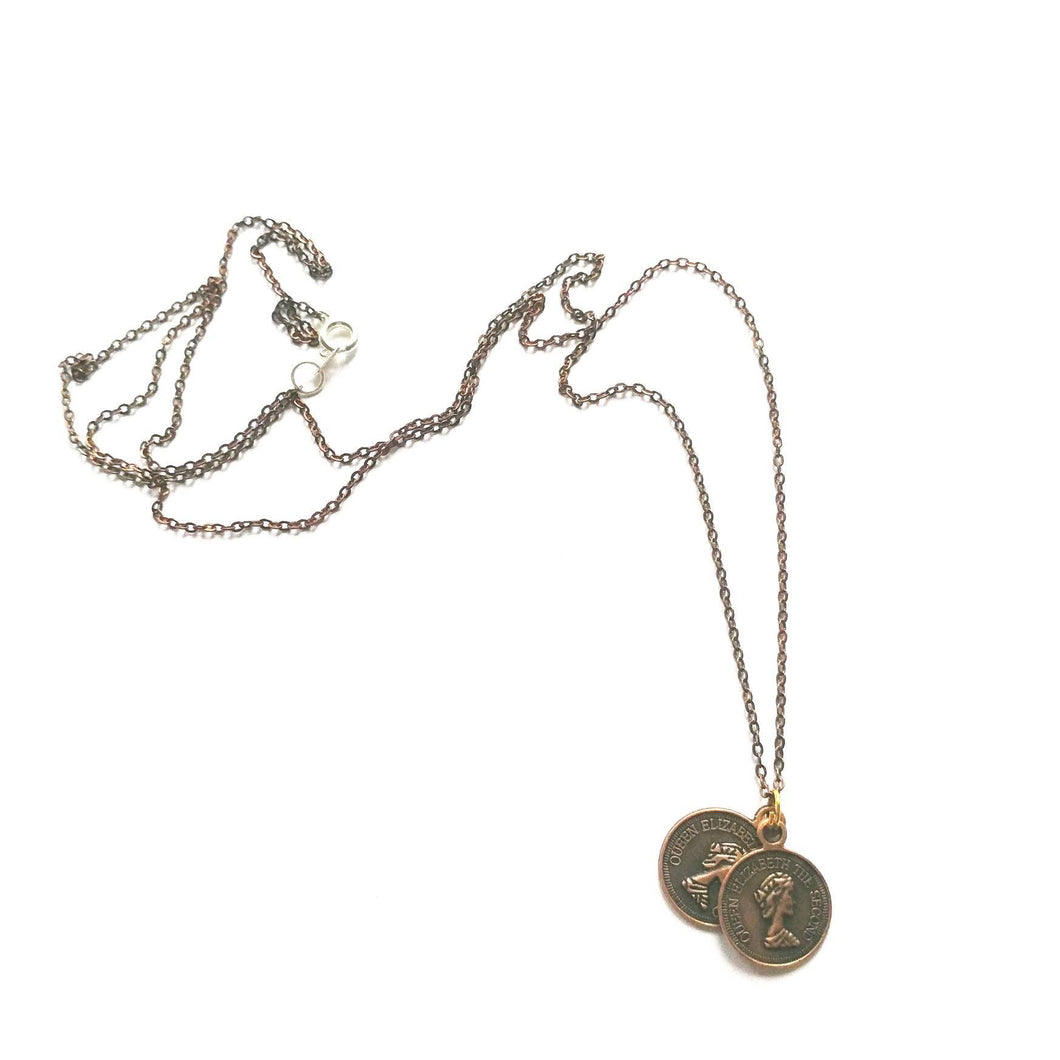 Bronze Coin Necklace