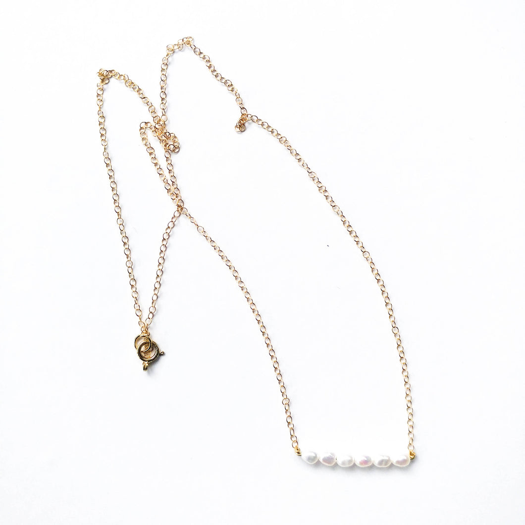 Fresh H20 Pearl Bar Necklace
