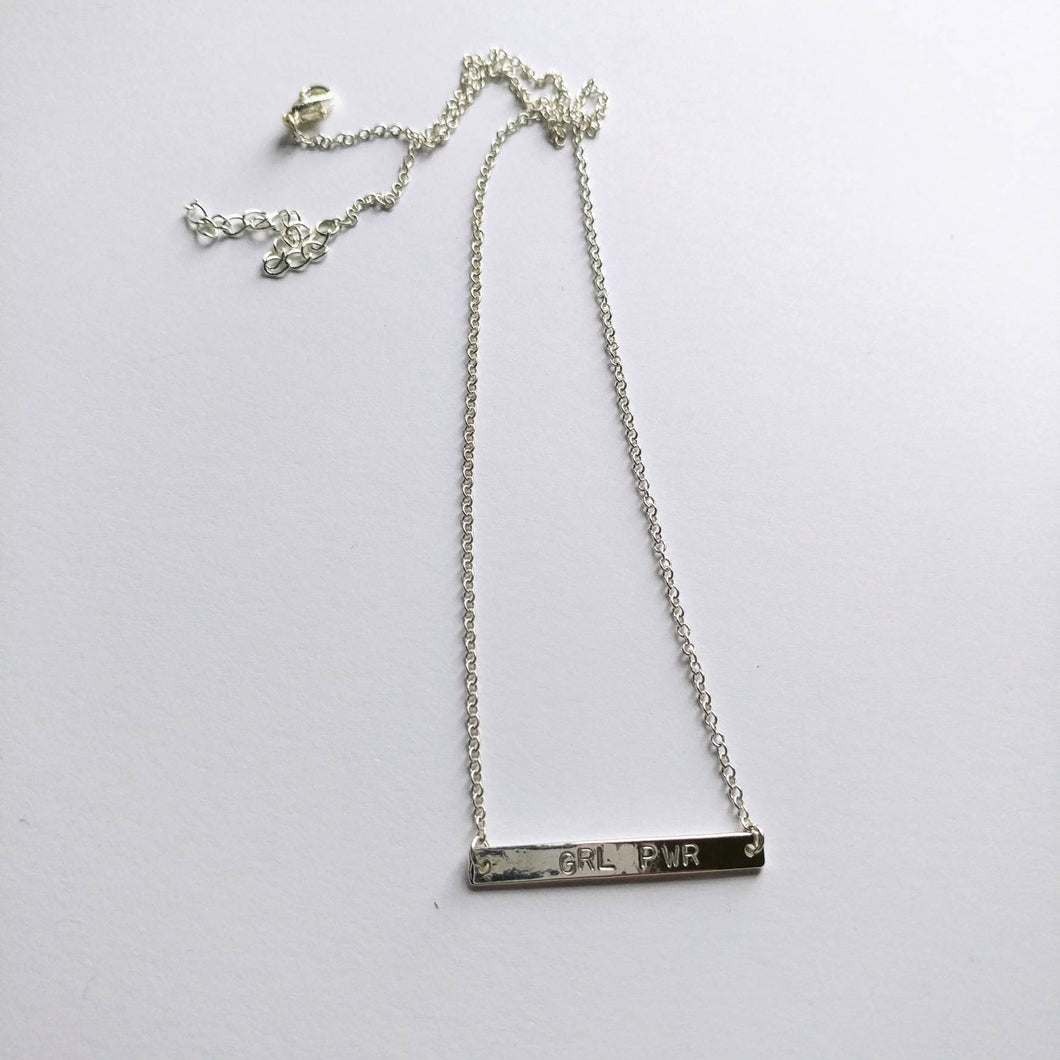 Girl Power Bar Necklace