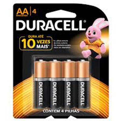 4 Pilhas AA Duracell
