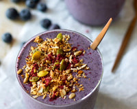 Blueberry Zucchini Protein Smoothie