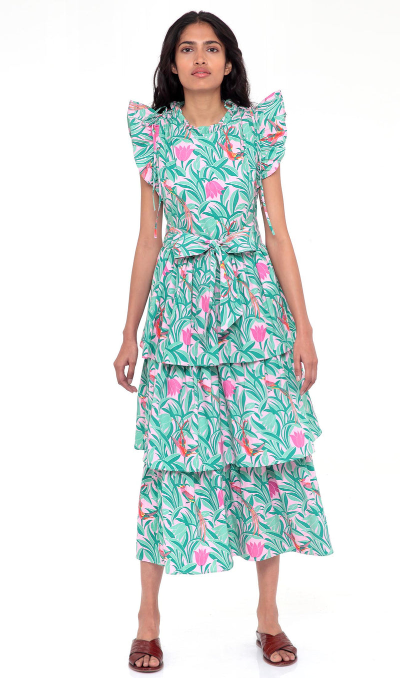 Banjanan Adriana Dress Tulip Bird Lilac