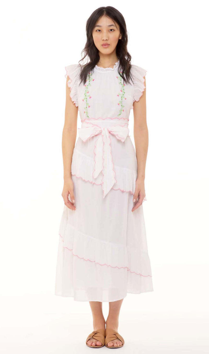Banjanan Bella Dress Bleached White