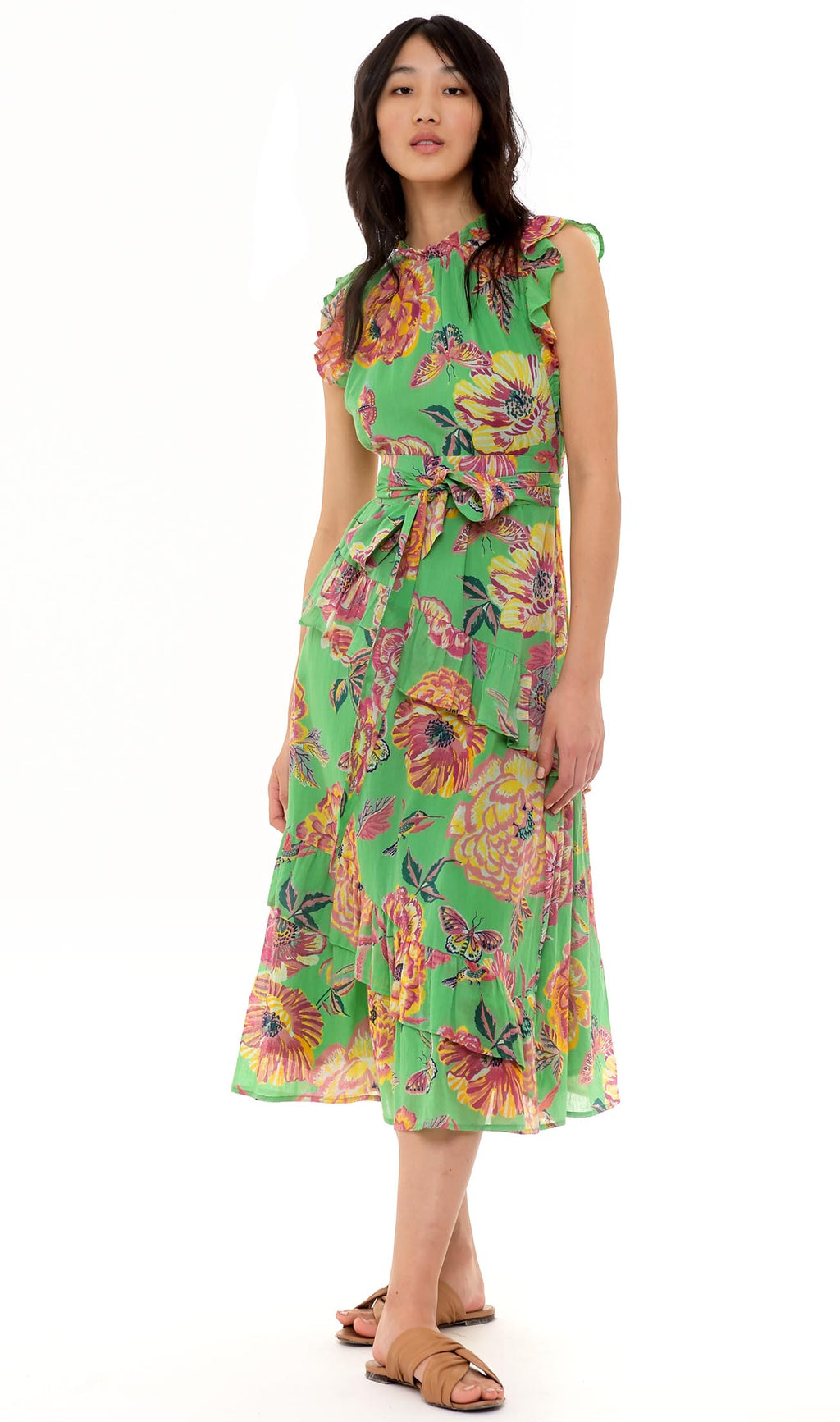Banjanan Bella Dress Eliza's Rose Garden Island and Green