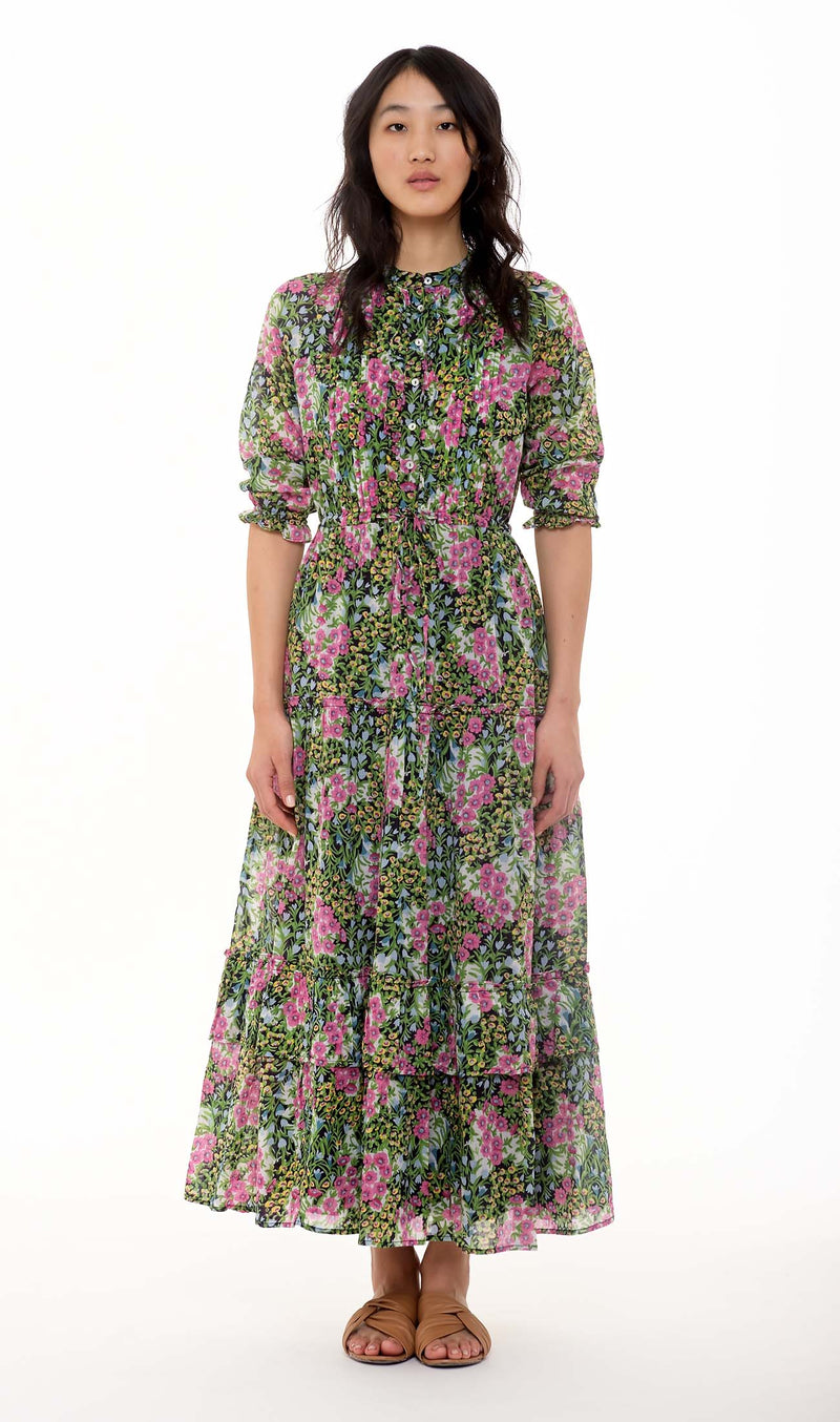 Maurice Dress Cottage Garden Cotton Poplin