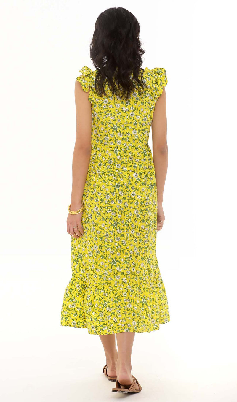 Cecil Dress Audrey Sprig Cotton Poplin