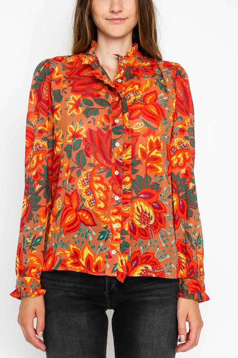 Chrissie Shirt Meadow Sweet Caramel