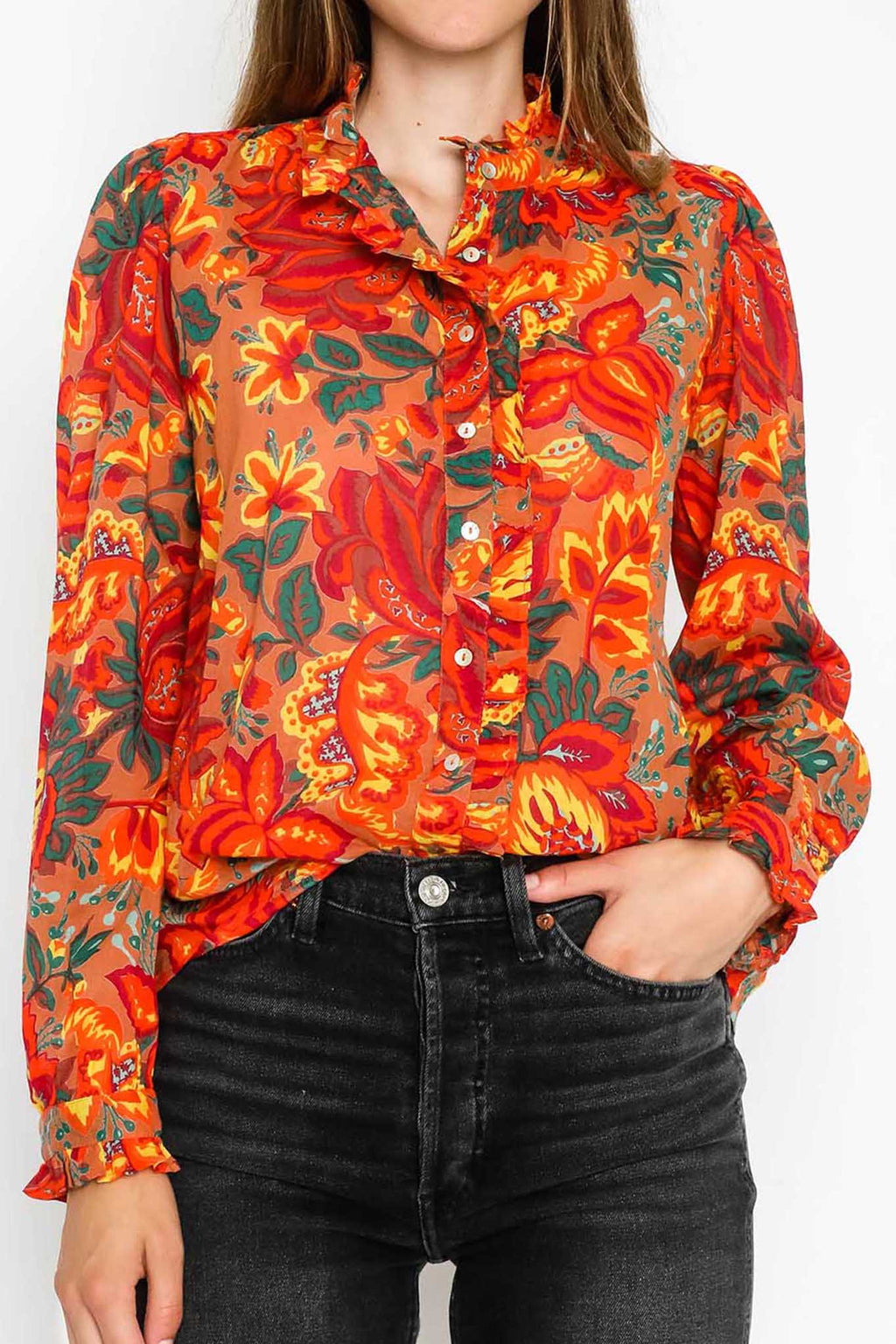Preorder - Chrissie Shirt Meadow Sweet Caramel
