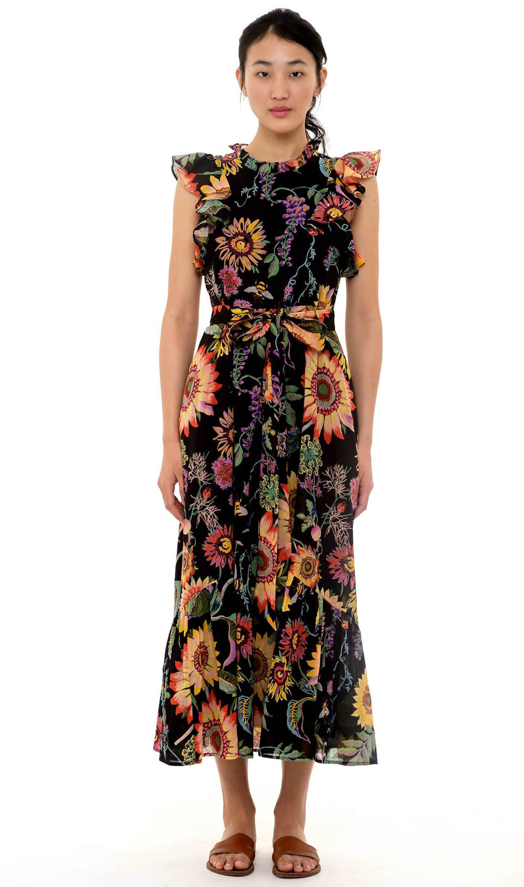 Banjanan Hanna Dress Midsummer Bumble Black