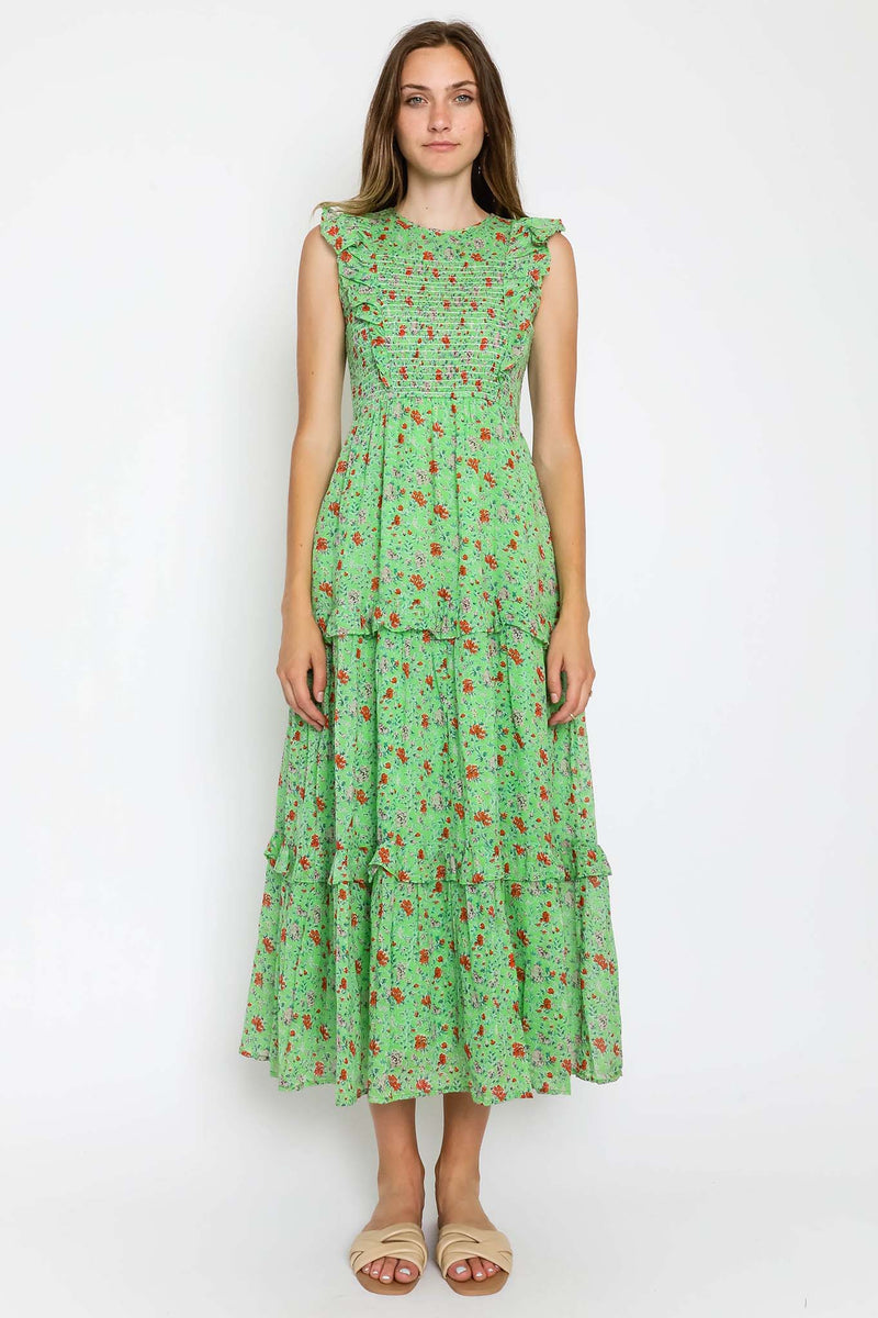 Lorene Dress Fiesta Buttercup