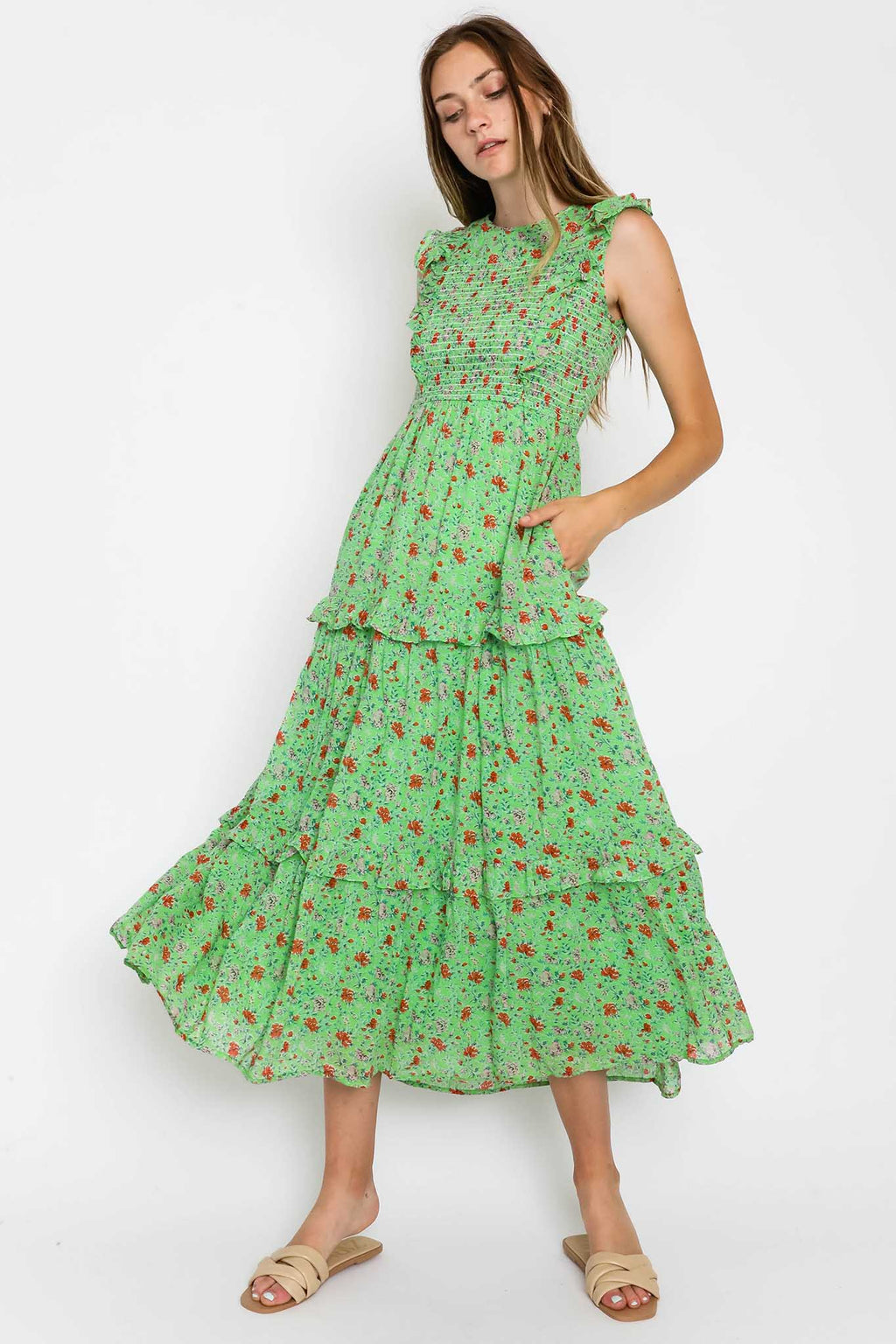 Iris Dress Siesta Budgreen