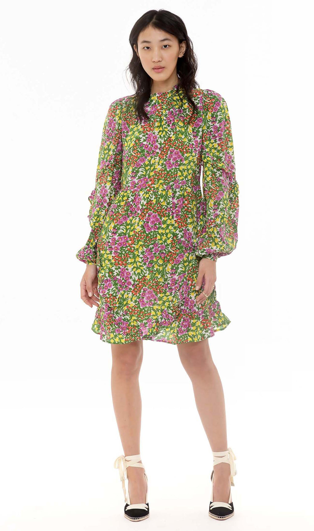 Banjanan Lila Mini Dress Cottage Garden