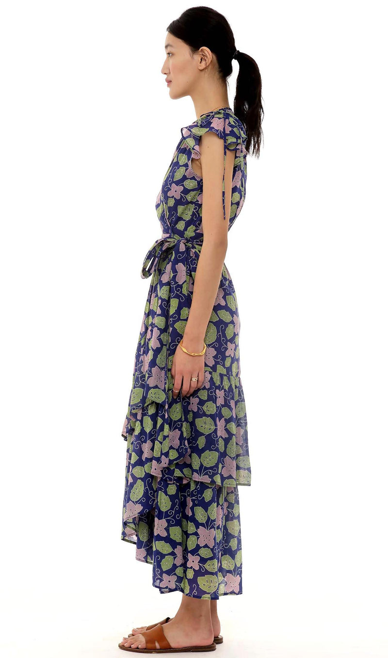 Mercy Dress, Familia Flor Blueprint,100% Organic Cotton Voile