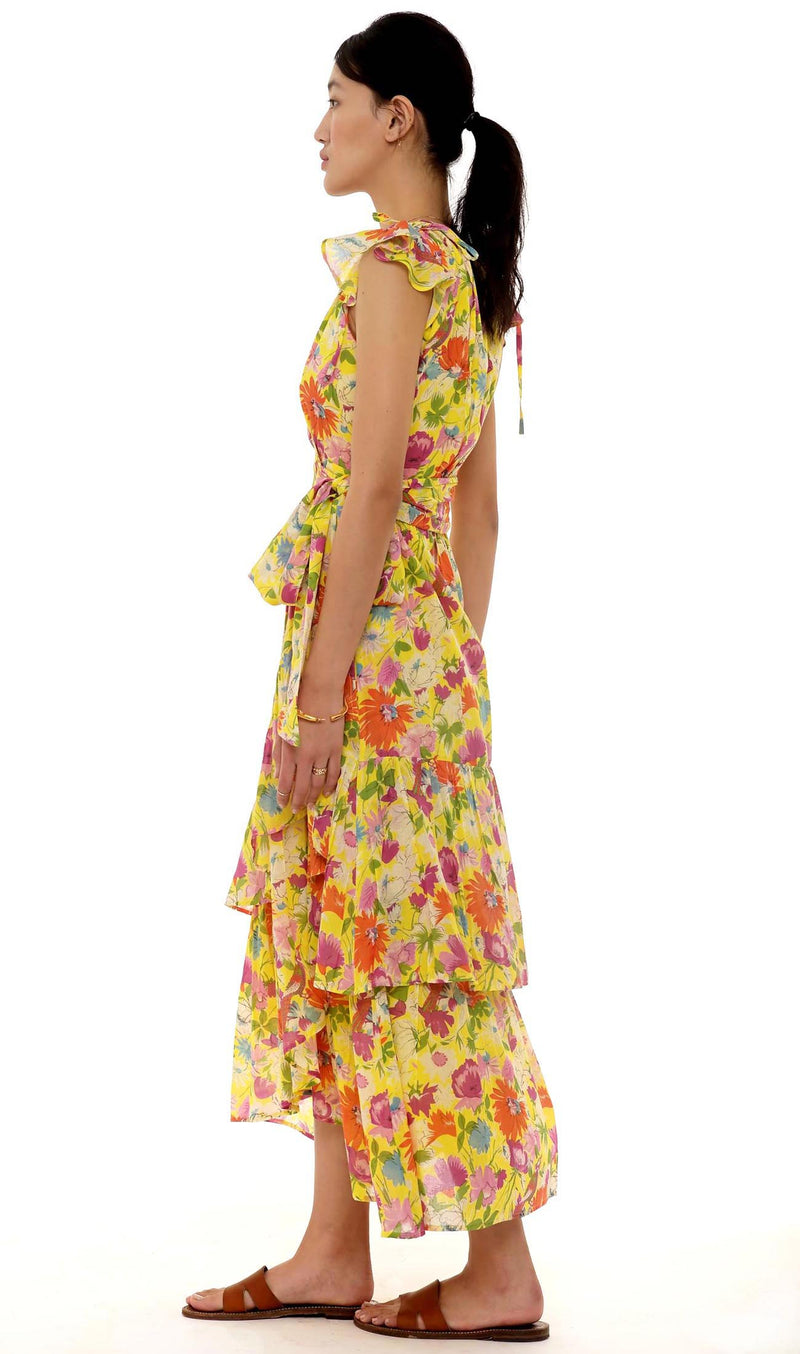 Mercy Dress, Fiesta Buttercup, 100% Organic Cotton Voile