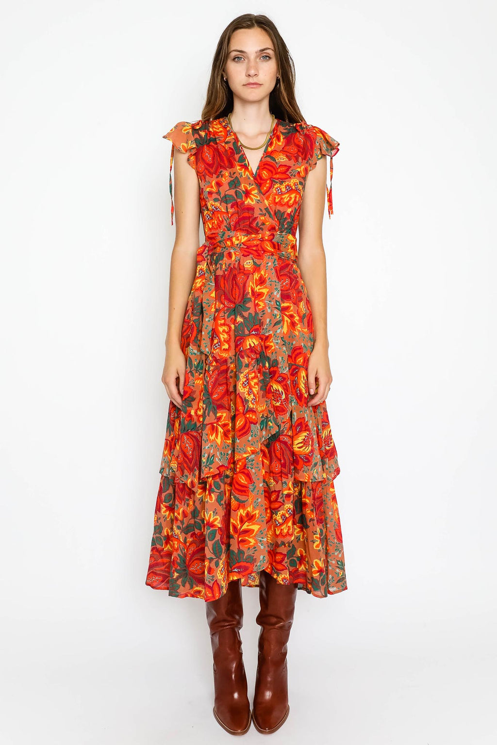 Mercy Dress Meadow Sweet Caramel