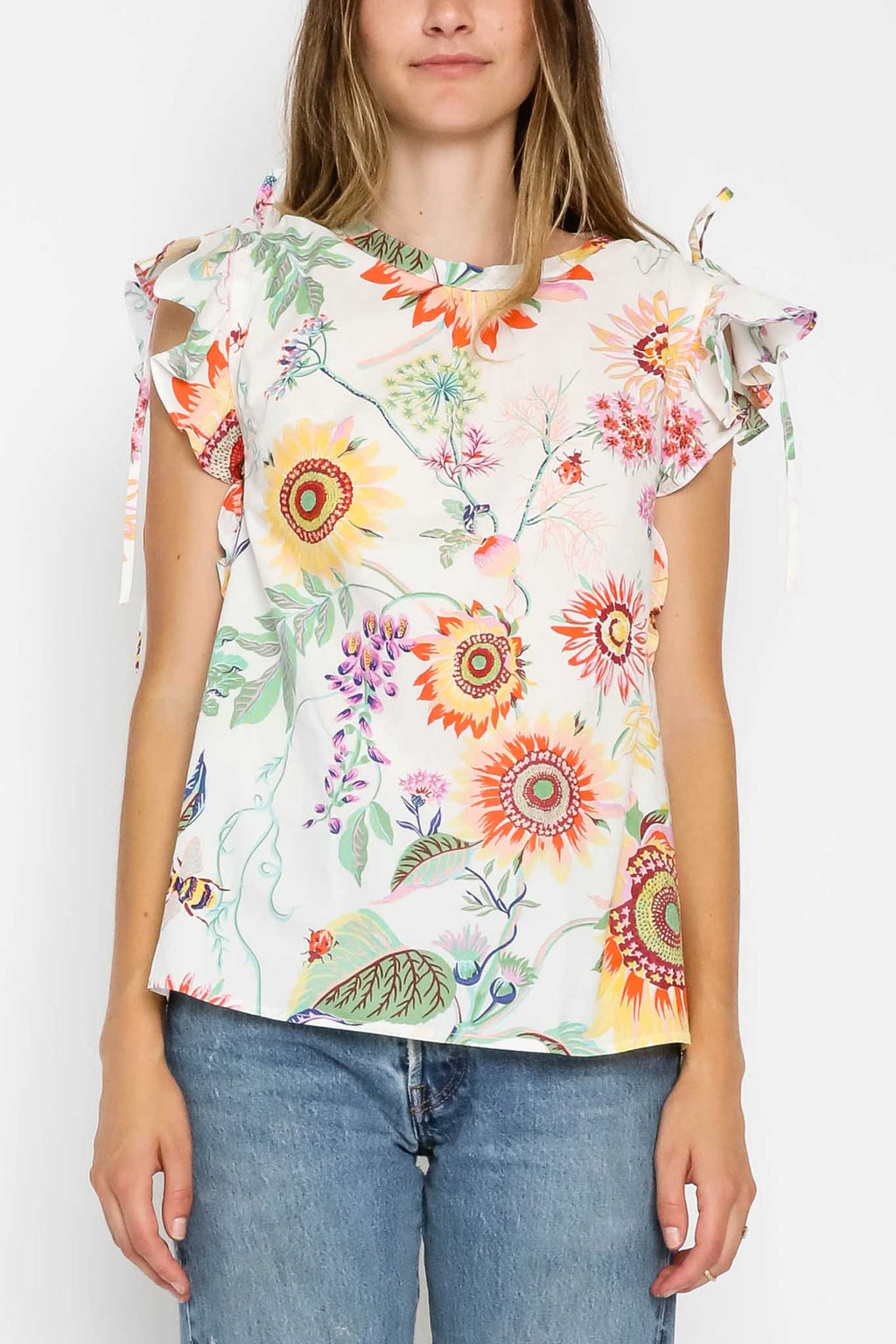 Olga Top Mid-Summer Bumble White