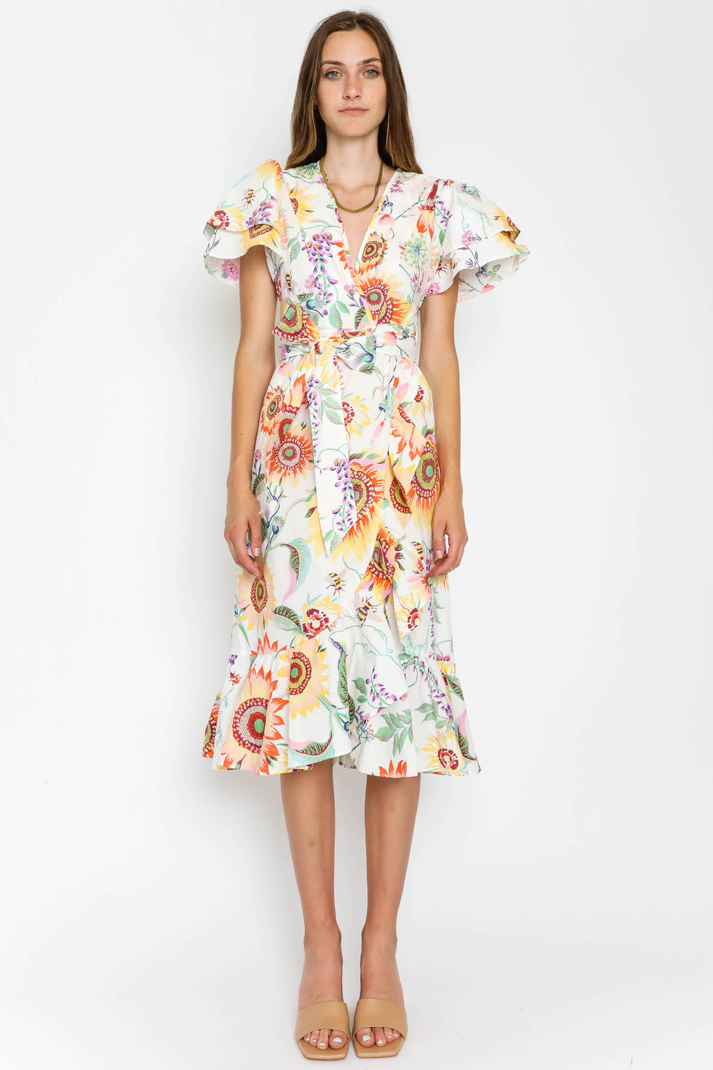 Palak Dress Mid-Summer Bumble White